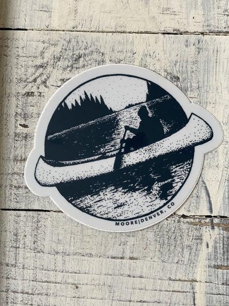 Canoe Vinyl Sticker