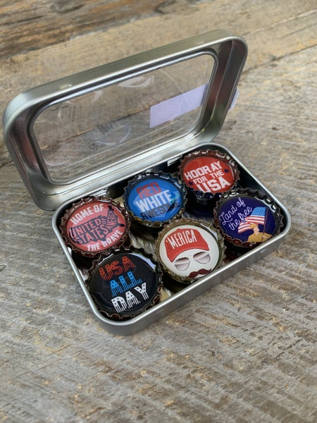 Bottle Cap Magnet Sets: ELECTION 2020 COLLECTION