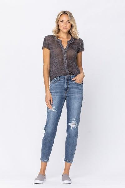 Caitlin Medium Wash Distressed Jeans