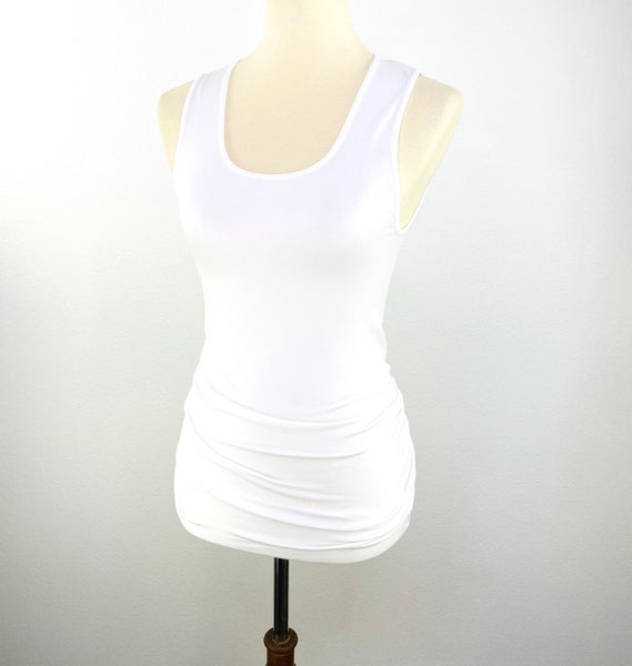 The Long Seamless Tummy Control Tank in White