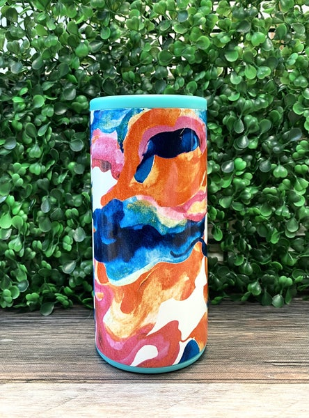 Color Swirl Swig Can Cooler