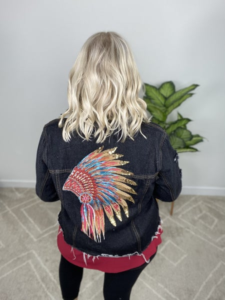 Headdress Dark Denim Jacket