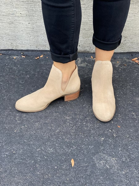 The Pronto Natural Suede Bootie
