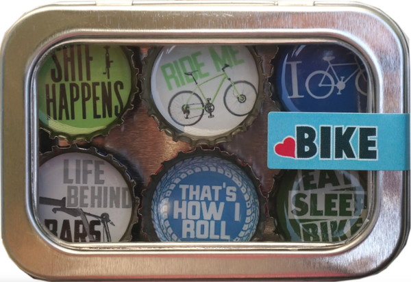 Bottle Cap Magnet Sets: Bike