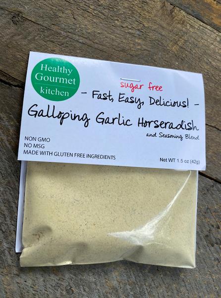 KETO-FRIENDLY: Galloping Garlic Horseradish Dip Mix