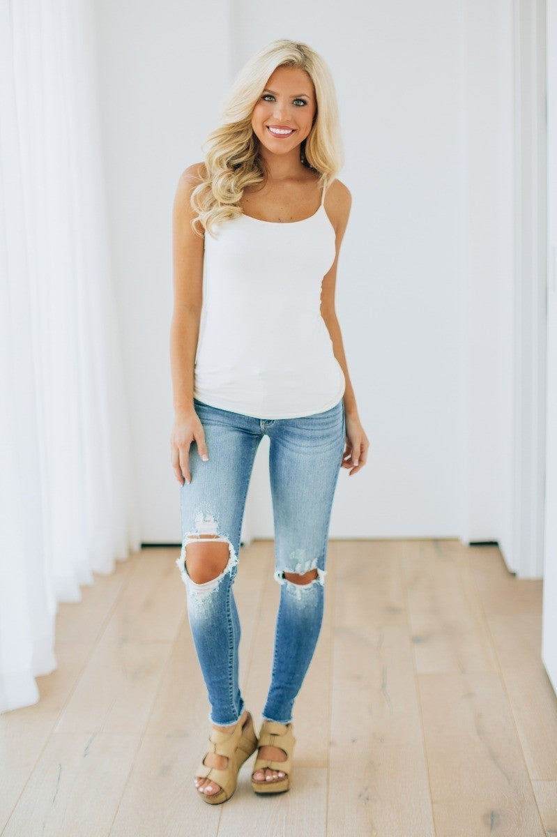 Dressed In Distressed Jeans
