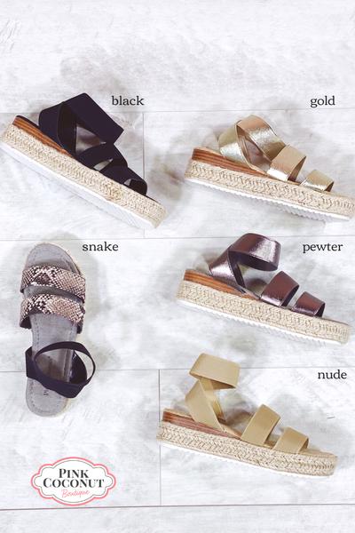 Prepared For Fun Platform Sandal
