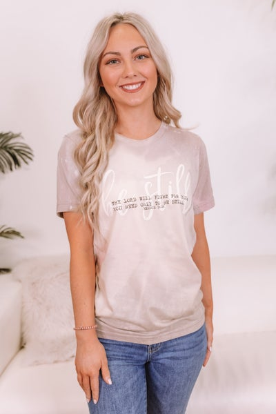 Be Still Bleached Graphic Tee