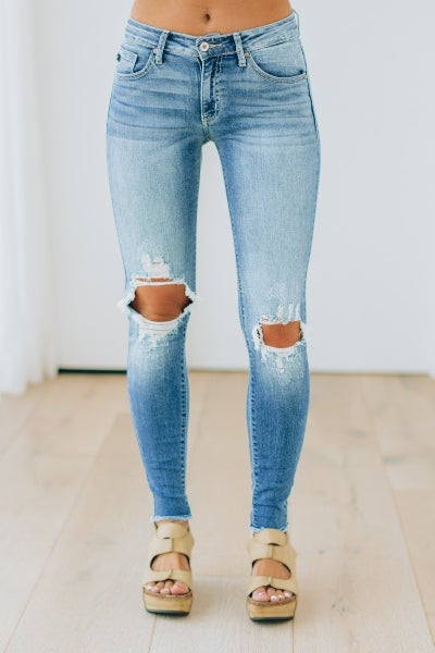 Dressed In Distressed Jeans - Denim