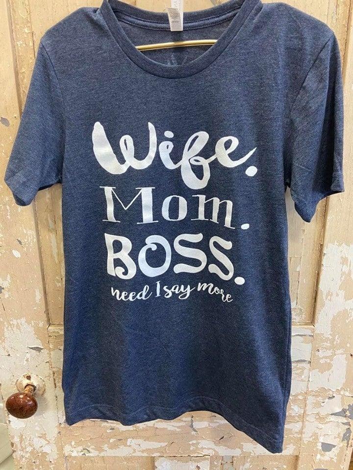 Mom Boss Graphic Tee