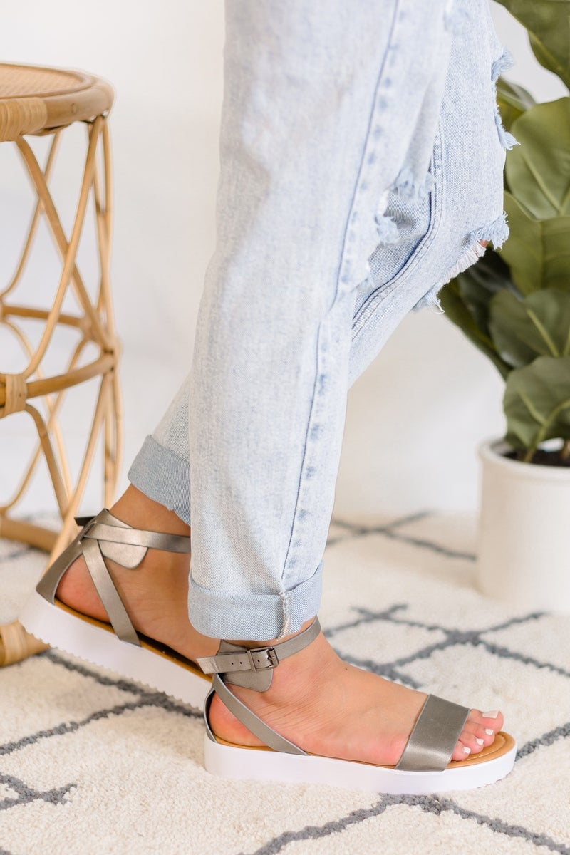 Tropical Oasis Platform Sandal -  LOVE