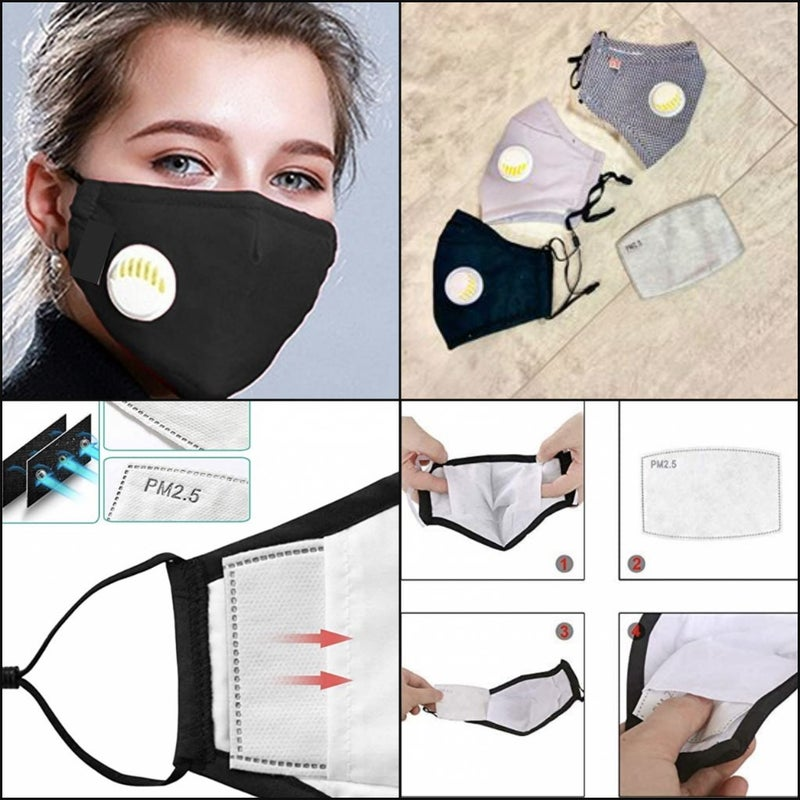Mask For Adult Comes with 2 PM 2.5 filters