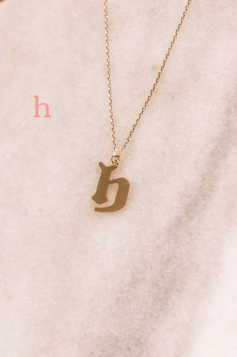 Graffiti Lower Case Initial Necklace