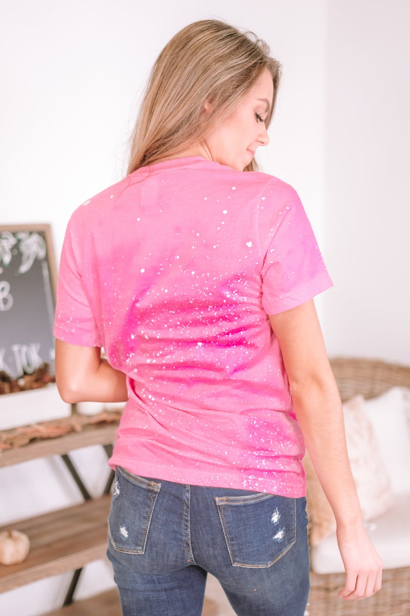 Leopard Breast Cancer Graphic Tee