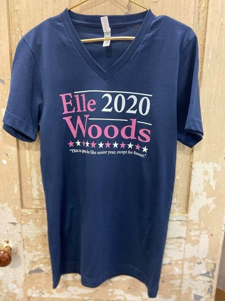 Elle Woods V Neck Graphic Tee