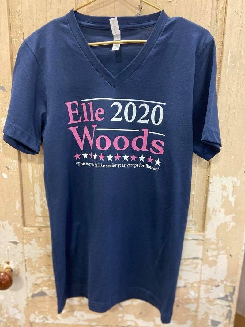 Elle Woods V Neck Graphic Tee