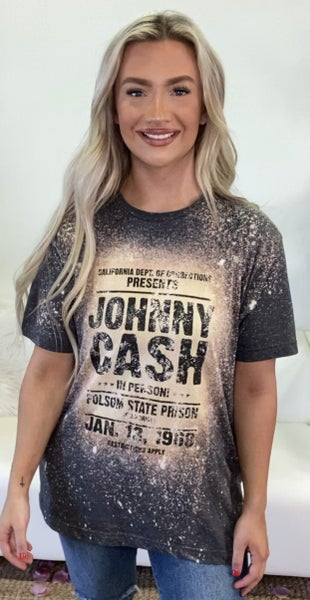 Johnny Cash Bleached Graphic Tee