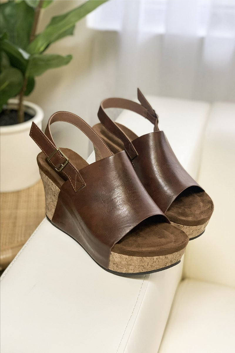 Leather Or Not Wedge