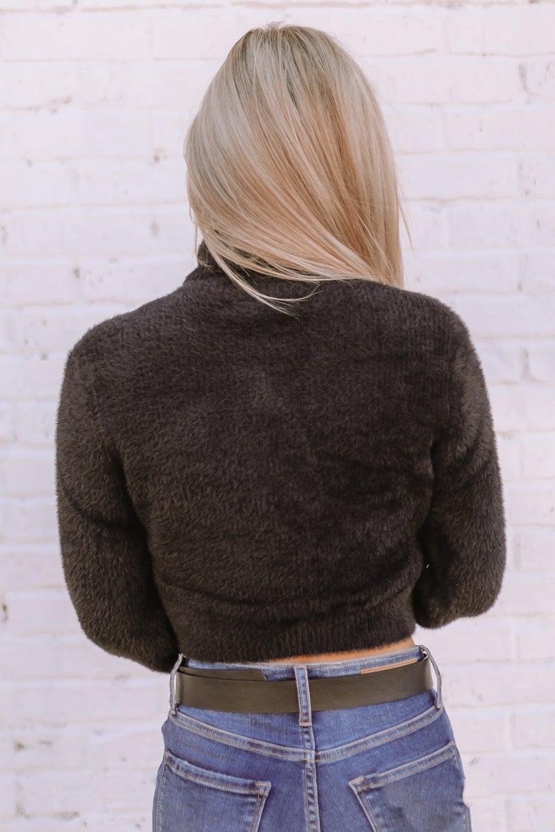 Walk Tall Cropped Sweater