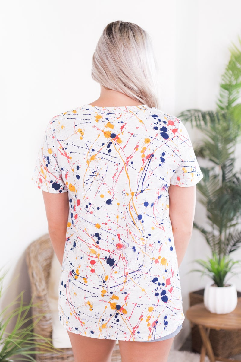 Colorful Splatter Top