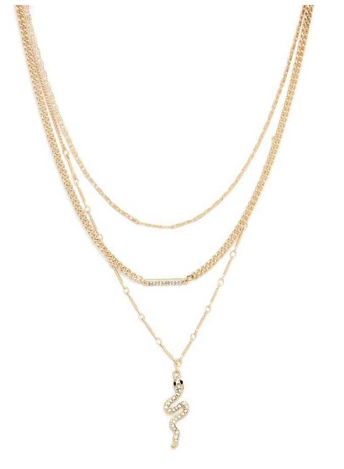 Snake Your Groove Thing Necklace Set
