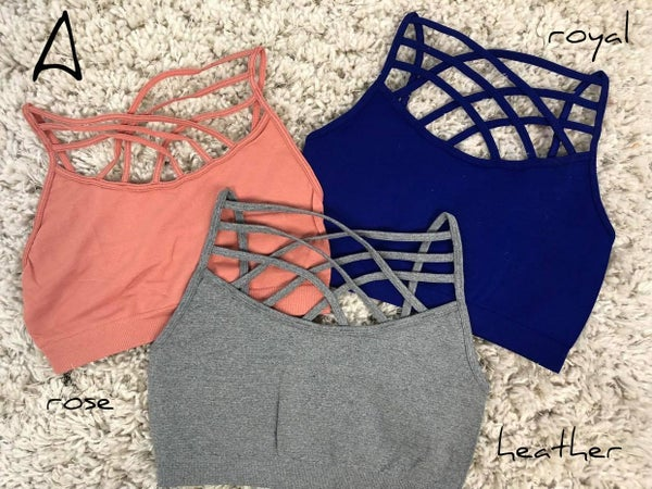 3 Piece Criss Cross Tank/Bralette Bundle