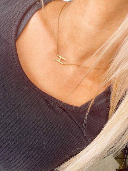 Letter To Herself Initial Necklace
