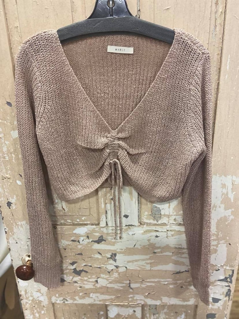 Phased Out Cropped Sweater
