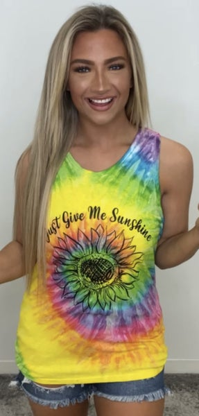 Just Give Me Sunshine Graphic Tank