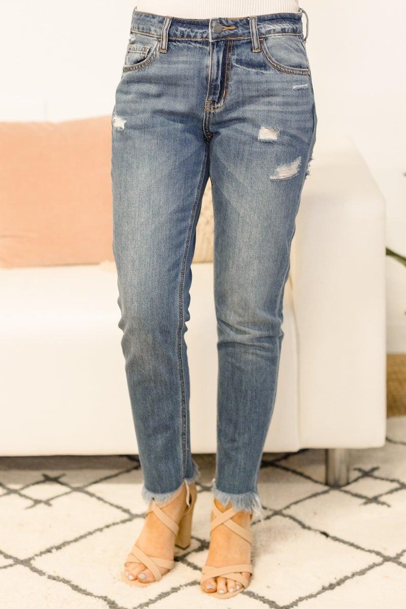 Give Me Five Minutes Jeans - Medium Denim