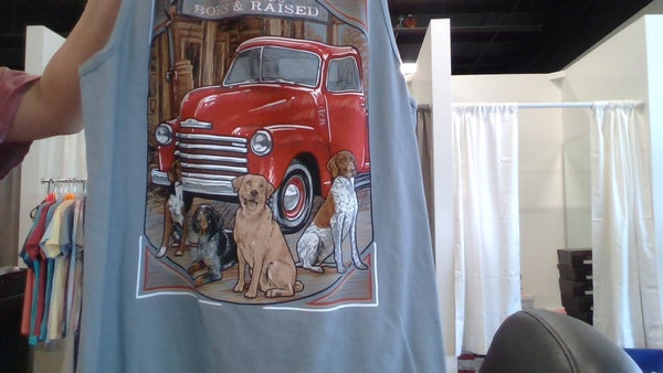Born And Raised Red Truck Graphic Tank