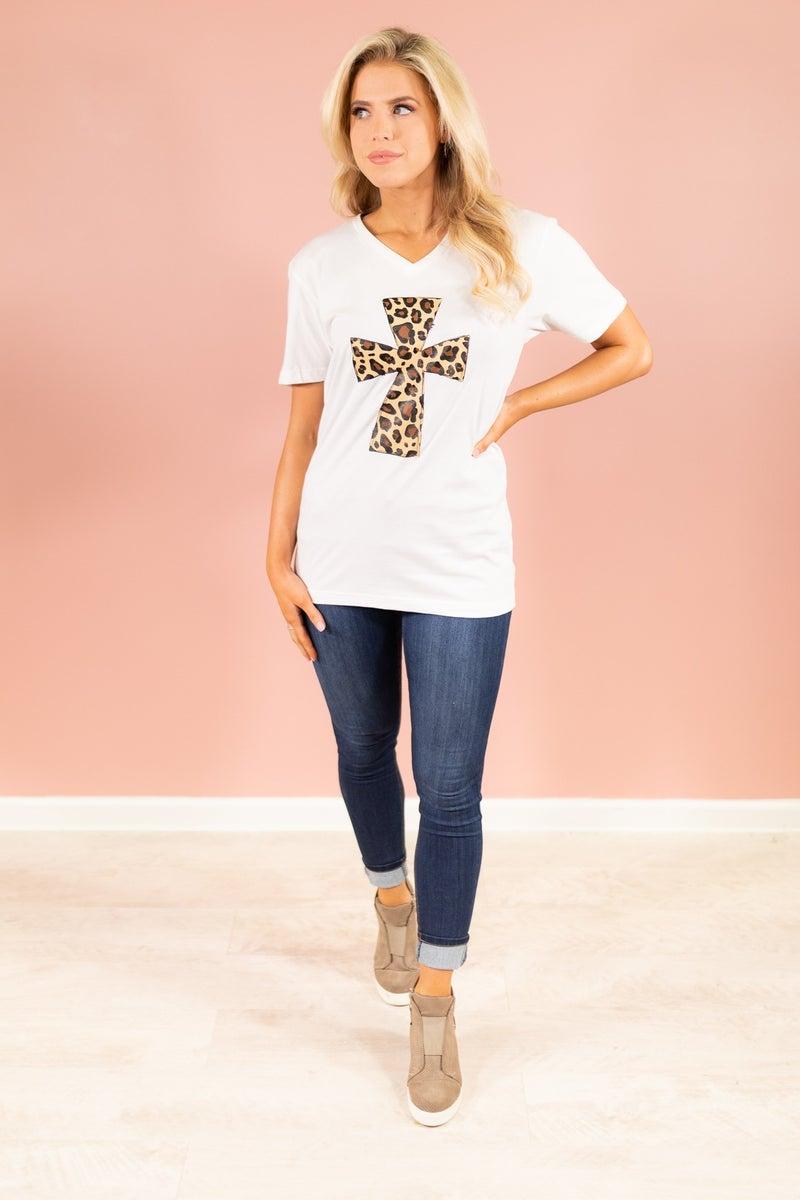 Leopard Cross Graphic Tee