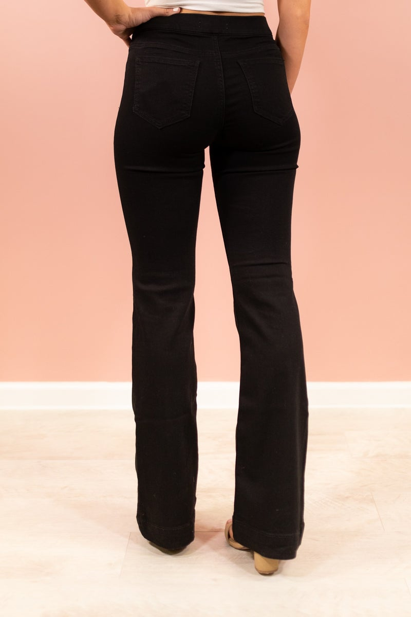 Too Flare To Care Jeans - Black
