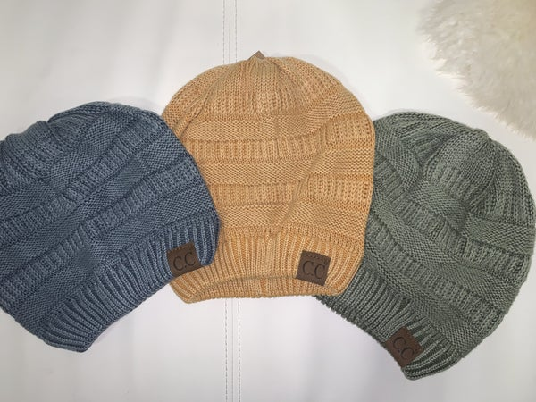 C.C Stone Washed Ribbed Beanie