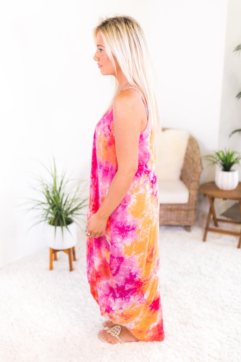 Splash Of Love Maxi Dress