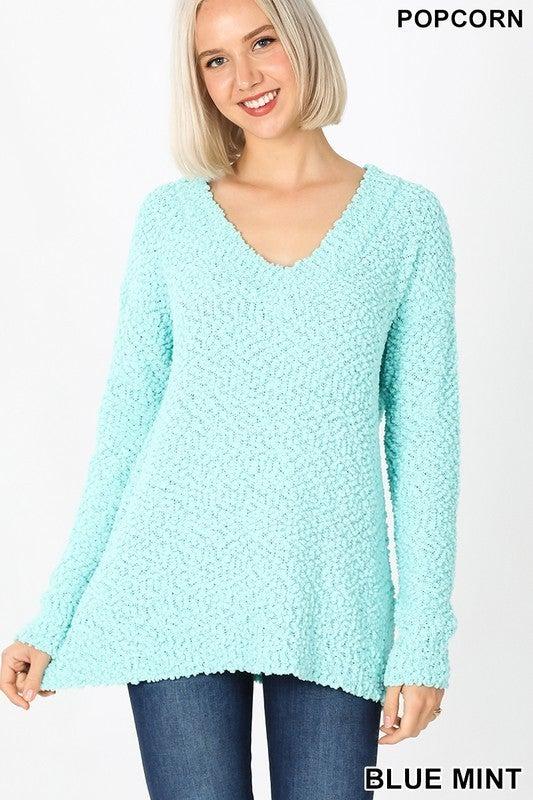 She's Not Afraid Popcorn Sweater- 400