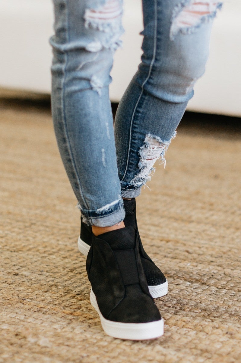 Tell Me All Your Secrets Sneaker Wedge - 100