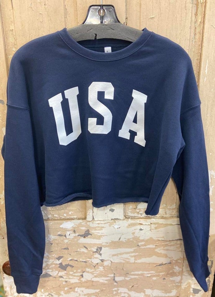 USA Cropped Sweatshirt
