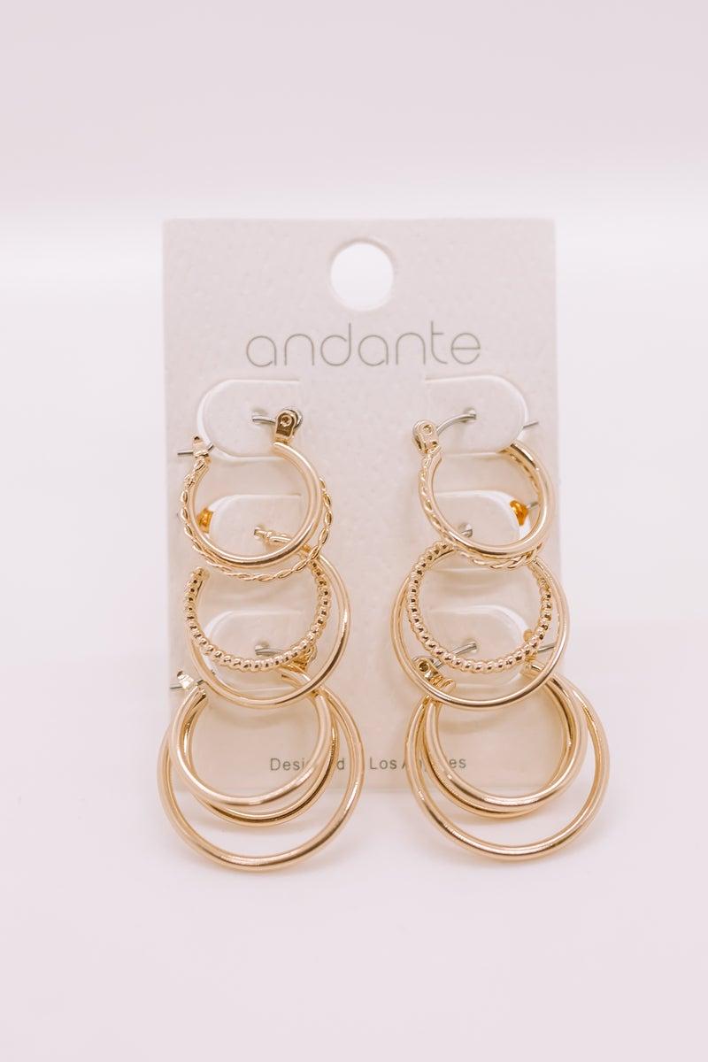 Triple Treat Earring Set