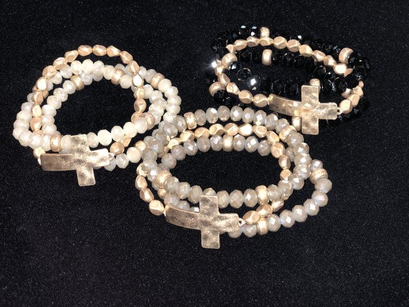 Side Cross Bracelet Set
