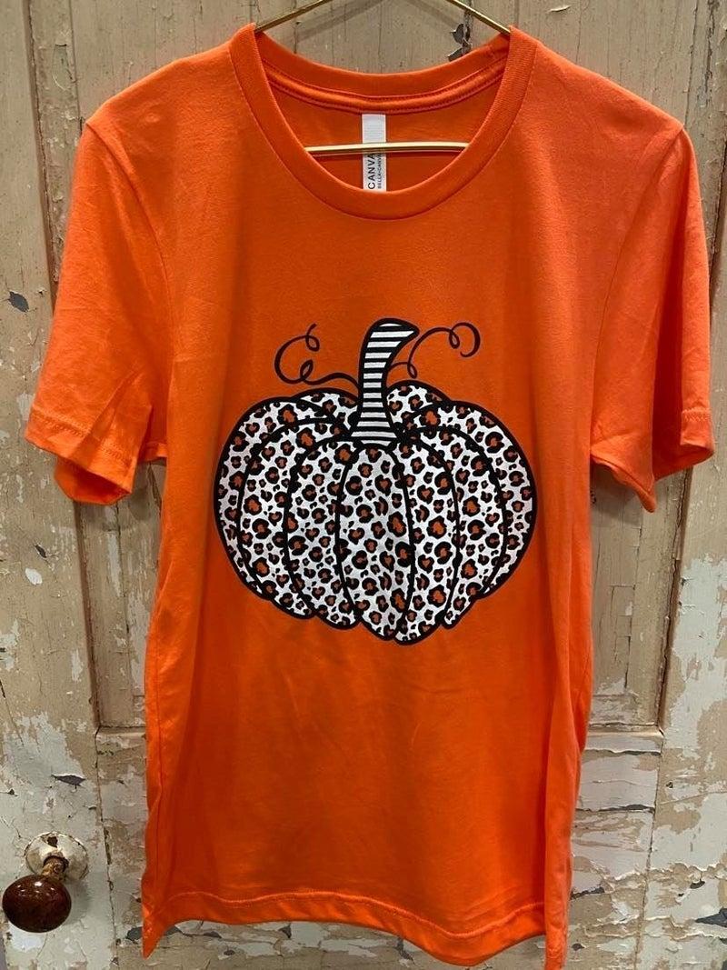 Cheetah Pumpkin Graphic Tee