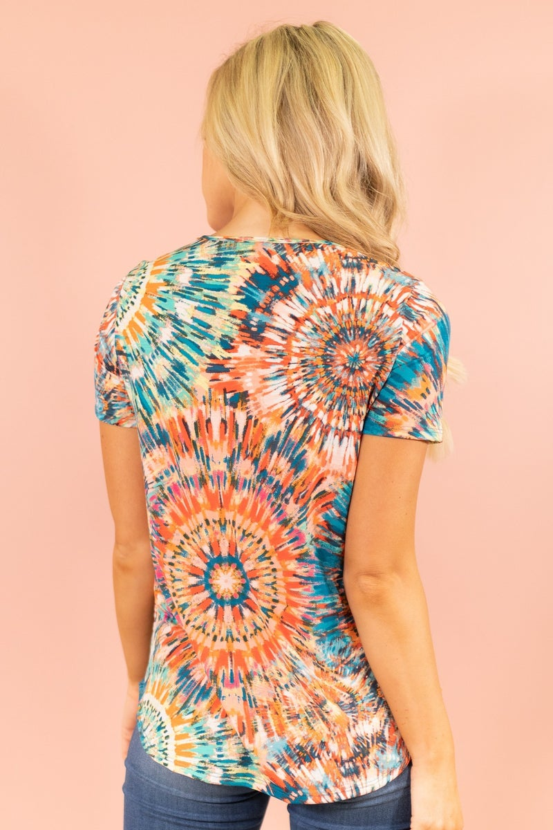 Colorful Burst Top