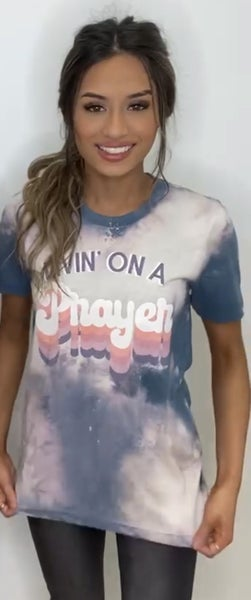 Livin On A Prayer Bleached Graphic Tee