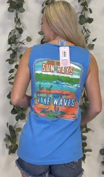 Sun Rays Graphic Tank