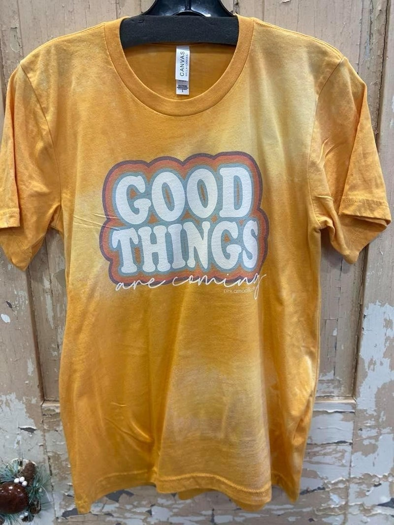 Good Things Are Coming Bleached Graphic Tee