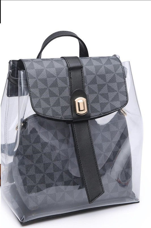 Crystal Clear Backpack Purse