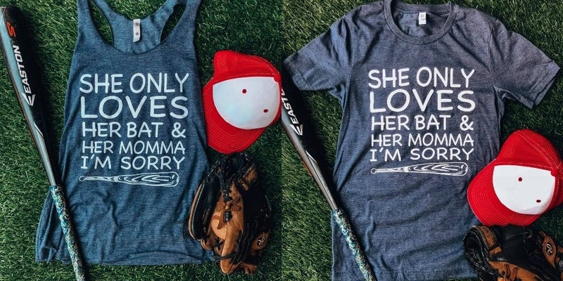 Only Loves Her Bat Graphic Tee/Tank -#B172