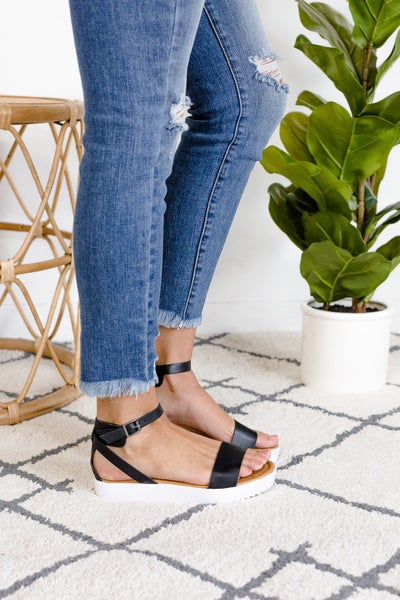 Tropical Oasis Platform Sandal -  LOVE