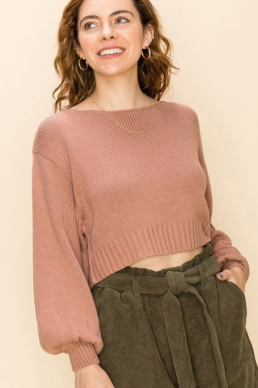 Where Did I Go Wrong Cropped Sweater
