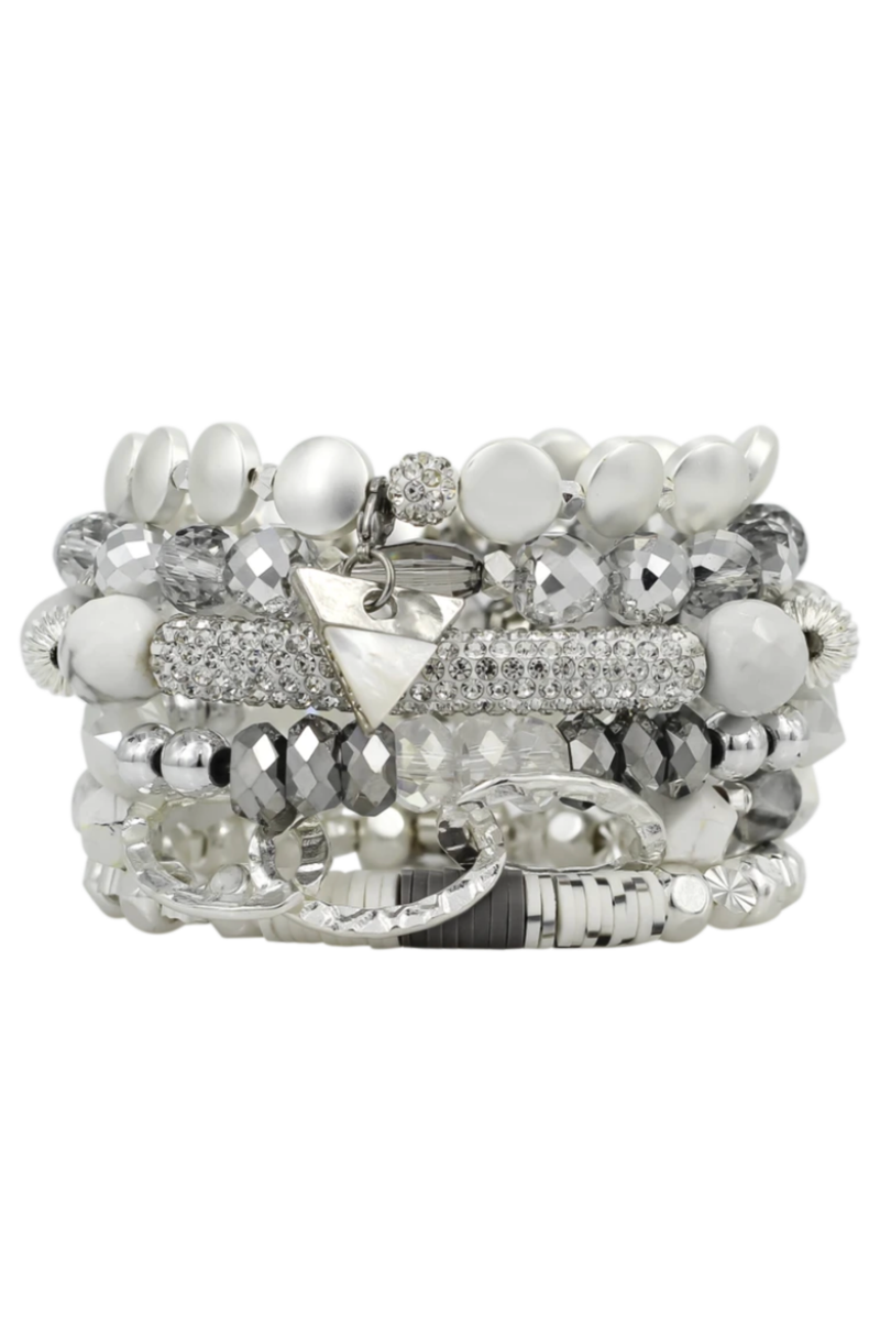 Crackle Erimish Bracelet Stack
